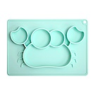 EXPECT兒童矽膠餐盤(螃蟹款)-藍色
