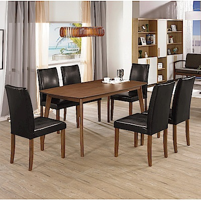 MUNA 賽維爾5尺餐桌(1桌6椅)  150X90X75cm