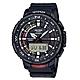 CASIO PRO TREK系列 藍芽連接多功能釣魚錶(PRT-B70-1)-黑x57mm product thumbnail 1