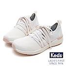 Keds Studio 完美包覆綁帶輕量休閒鞋-白