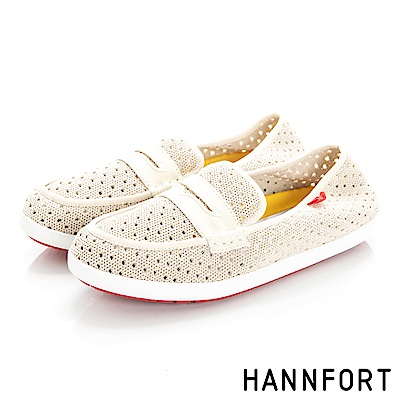HANNFORT CALIFORNIA編織帆船鞋-女-沙灘米