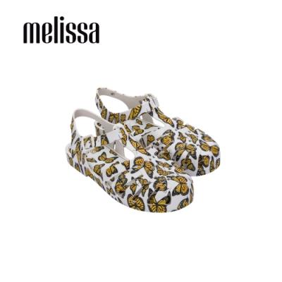 Melissa POSSESSION滿版印花漁夫鞋-白黃
