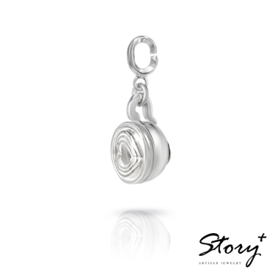 STORY故事銀飾-X mas系列-Latte拿鐵 扣扣墜飾