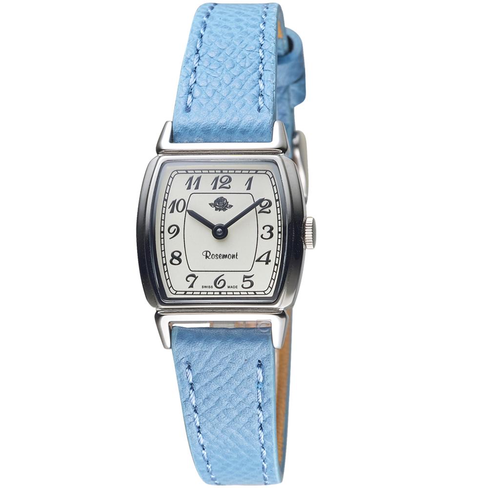 玫瑰錶Rosemont韓劇她的私生活朴敏英同款錶(TNS005-SWR-GLB)-藍牛皮