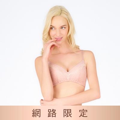 黛安芬-美型嚴選系列 包覆無鋼圈 B-D罩杯內衣 粉膚色