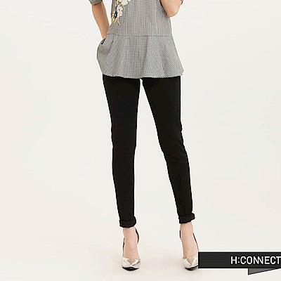 H:CONNECT 韓國品牌 女裝-經典純色窄管牛仔褲-黑(快)