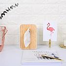 樂嫚妮 日式木紋抽取式面紙巾盒/衛生紙盒 直立式-白