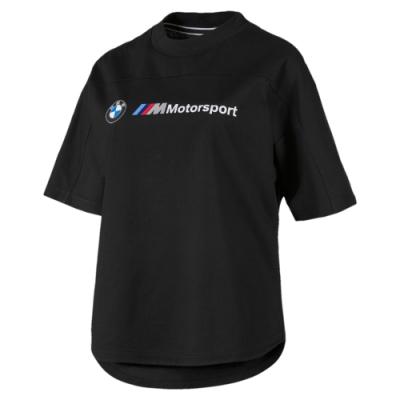 PUMA-女性BMW系列MMS Logo短袖T恤-黑色-歐規