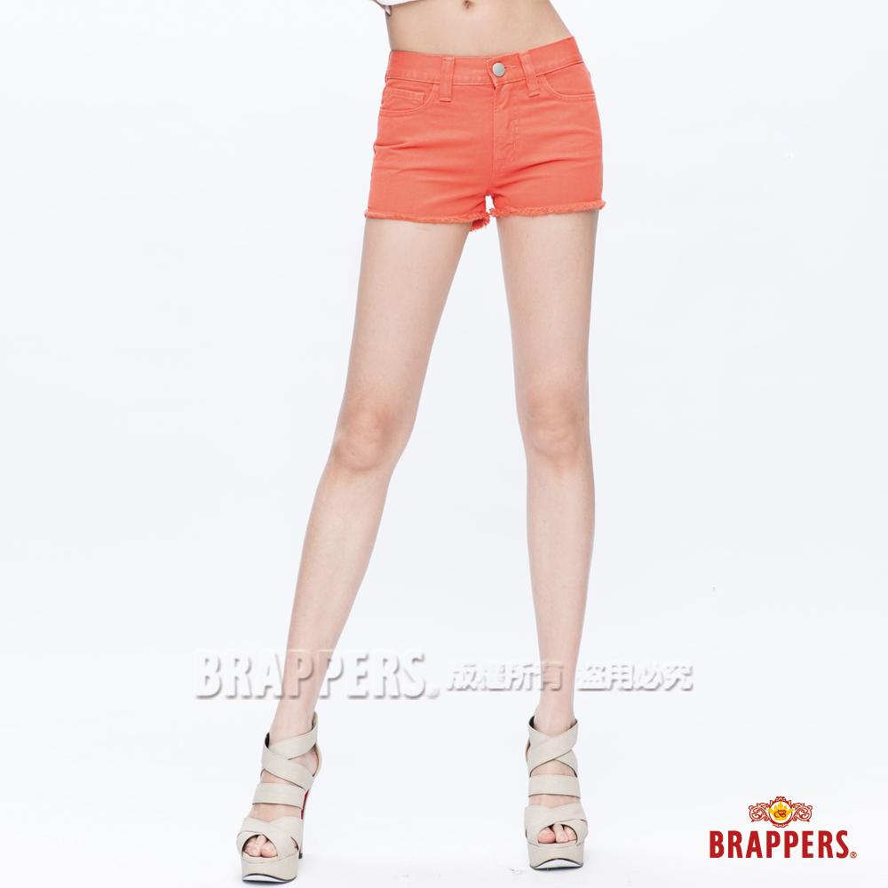 BRAPPERS 女款Boy Friend Jeans系列-熱褲-亮橘