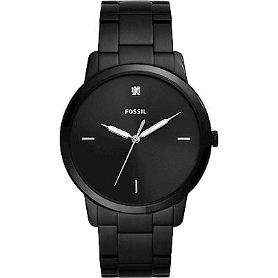 FOSSIL Minimalist 薄型簡約手錶(FS5455)-鍍黑/44mm
