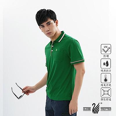 【遊遍天下】MIT男款吸濕排汗抗UV機能POLO衫GS1001綠色
