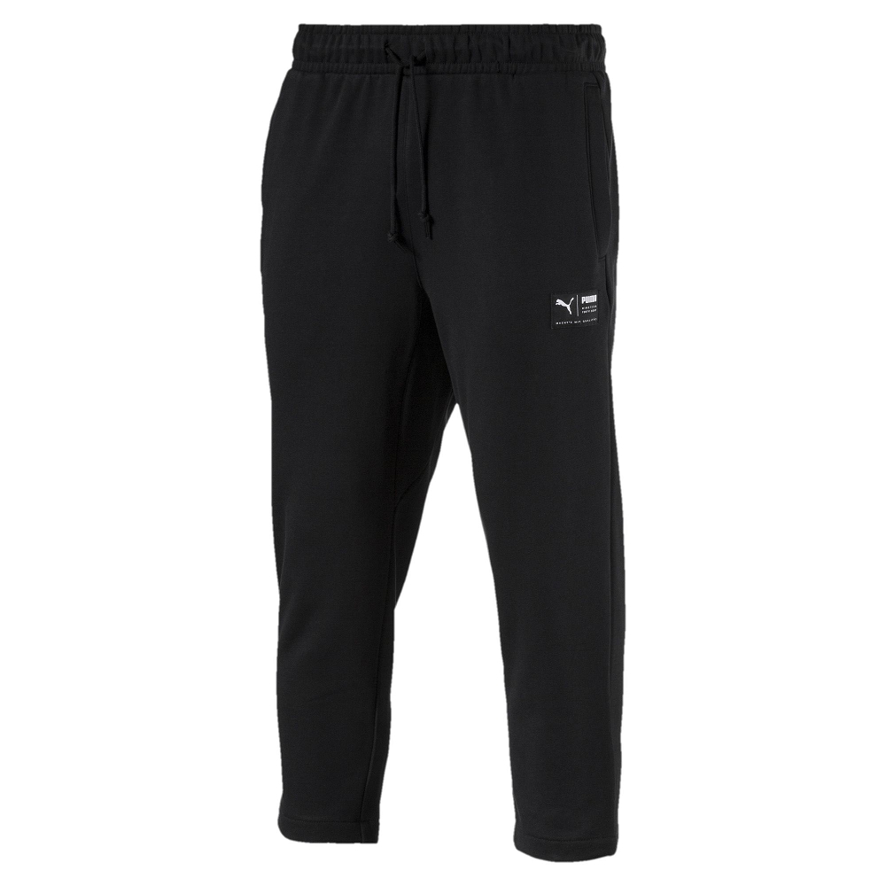 PUMA-男性流行系列Downtown棉質長褲-黑色-亞規