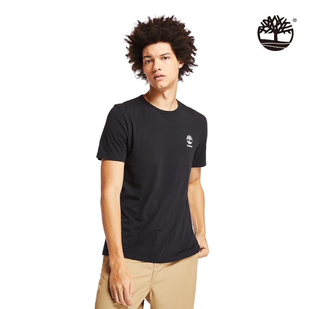 Timberland 男款黑色徽標LOGO短袖圓領T恤|A22RP