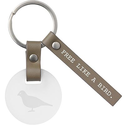 《RADER》皮標吊飾鑰匙圈(自由如鳥)