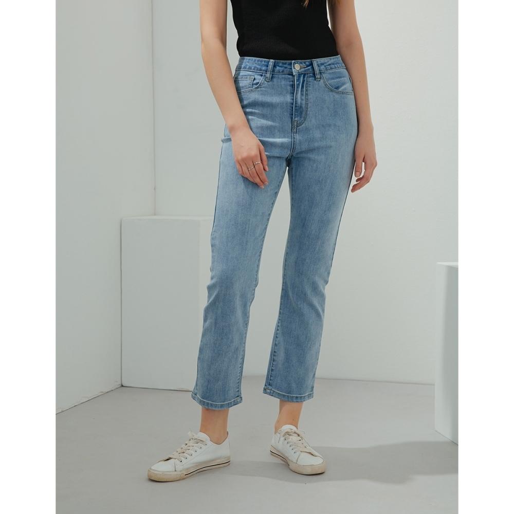 Shester55-彈力小直筒牛仔褲(二色)-女【B2SH096】