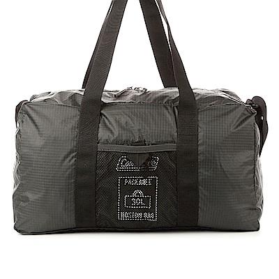 美國Coleman。可收摺輕量旅行袋CM-27016M000 (經典黑)