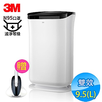 3M 9.5L 雙效空氣清淨除濕機 FD-A90W 贈Siroca塵蹣吸塵器 N95口罩濾淨原理