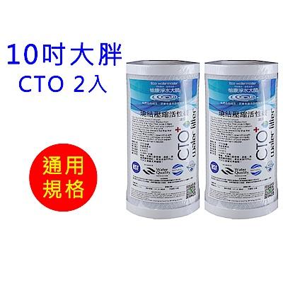 怡康 10吋大胖標準CTO燒結壓縮活性碳濾心2支