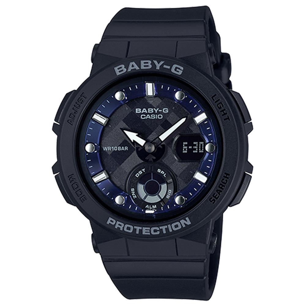 BABY-G 熱愛海洋風格船舵概念設計霓虹照明運動錶(BGA-250-1)黑41mm @ Y!購物