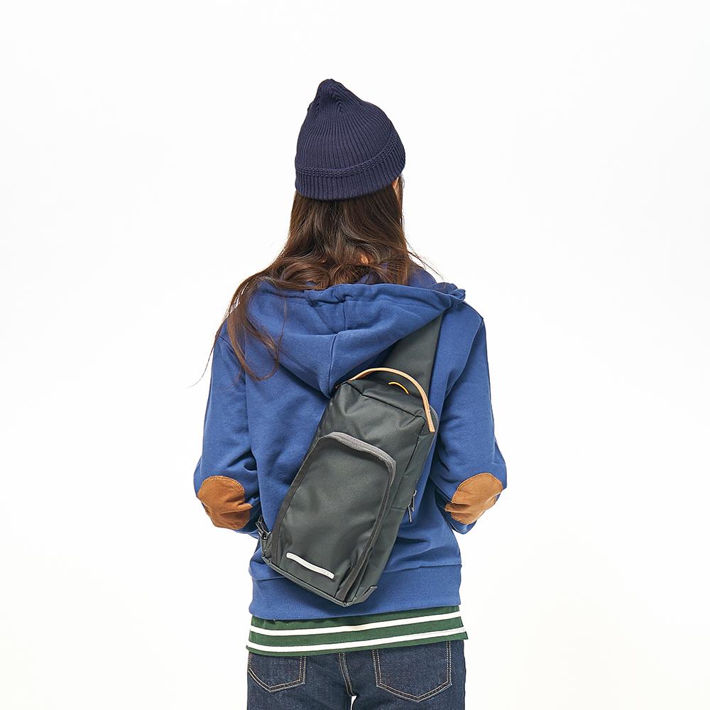 RAWROW-廣場系列-兩用經典單肩包(手提/肩背)-深藍灰-RSL600CH