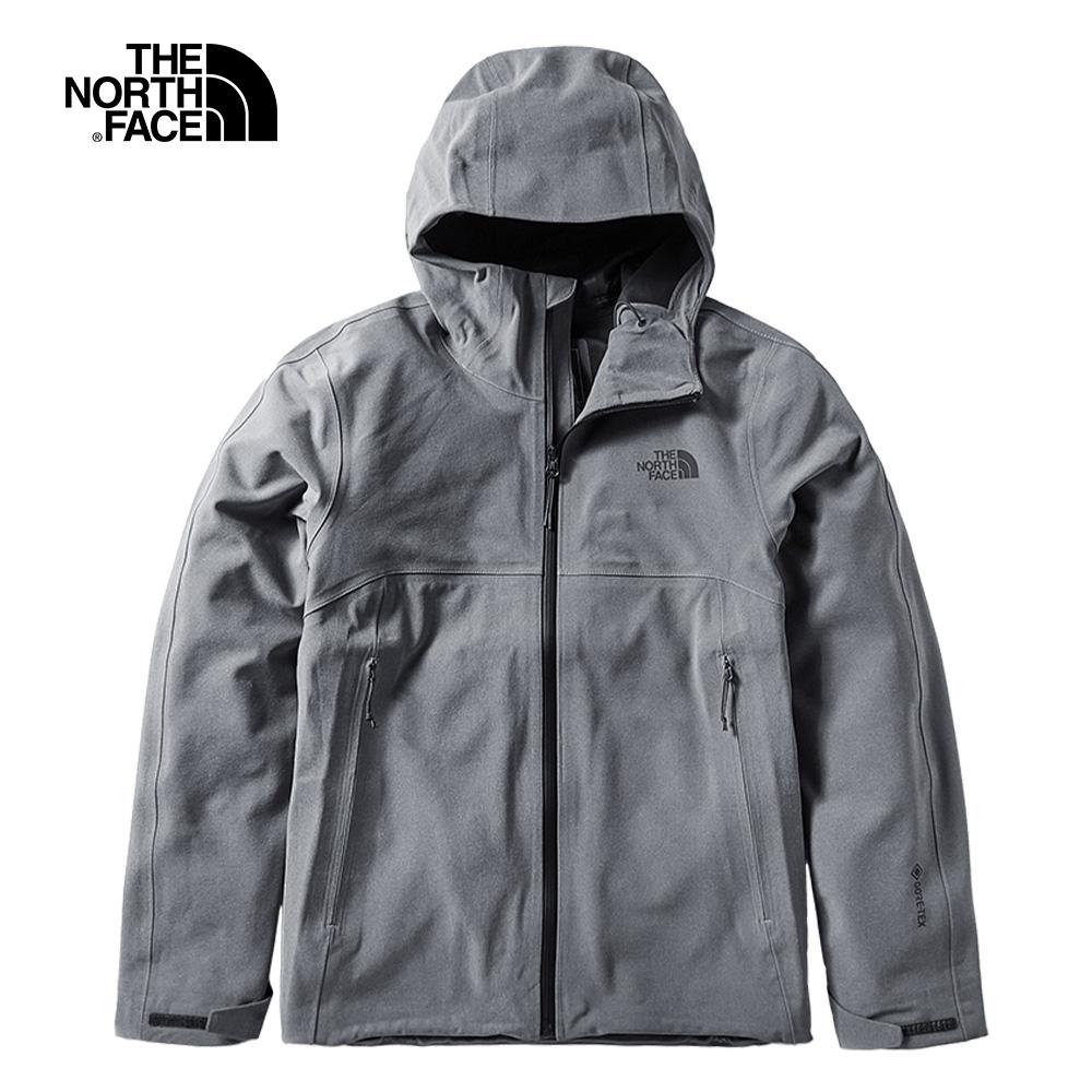 The North Face北面男款灰色防水透氣衝鋒衣|49B8DYY