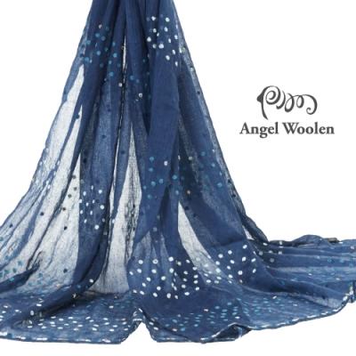 【ANGEL WOOLEN】點珠印度胎羊毛手工披肩(共兩色)