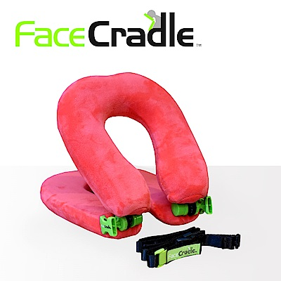 FaceCradle Lite 多功能旅行枕 / 午睡枕 / 護頸枕 - 輕巧進化版(粉)