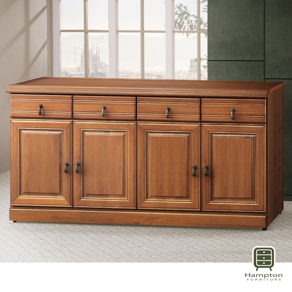 Hampton薩默正樟木5.3尺碗盤櫃-159x45x81cm