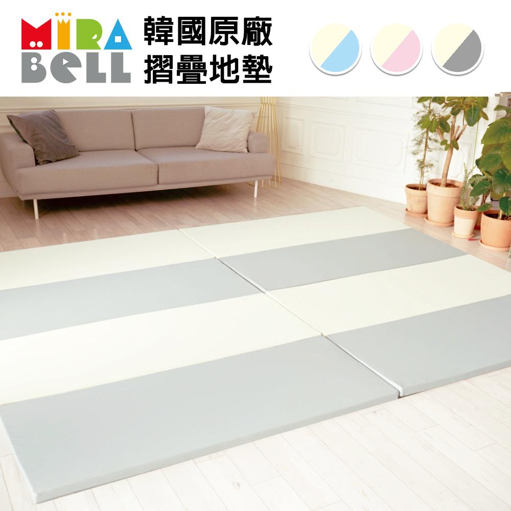 【韓國 MIRABELL】 兒童4cm摺疊地墊(三色可選-四折折疊地墊/遊戲墊/爬行墊) product image 1