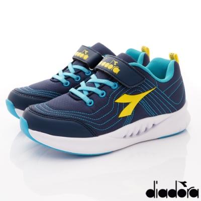 DIADORA童鞋 3E高支撐機能跑鞋款 SE926藍(中大童段)