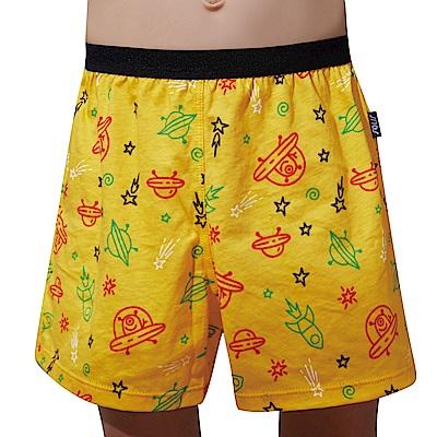 SOLIS 飛行船系列120-150印花四角男童褲(鵝黃色)