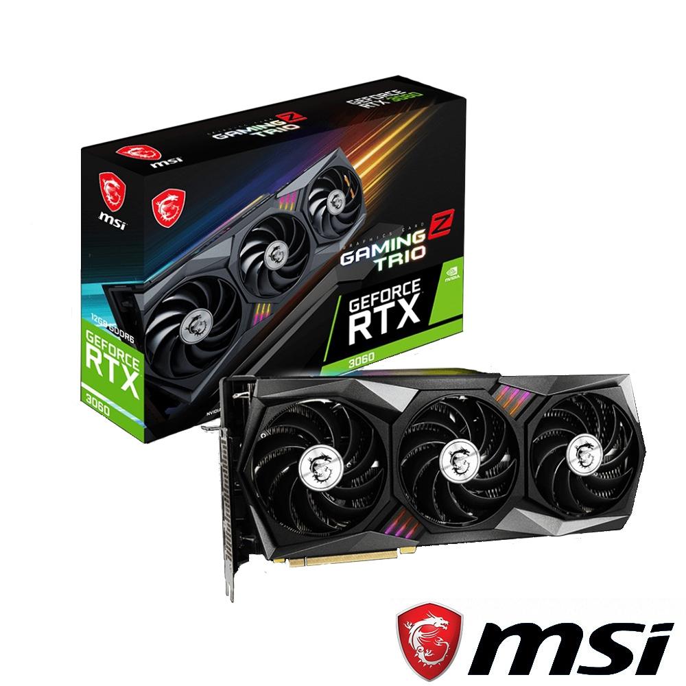 MSI 微星 GeForce RTX3060 GAMING Z TRIO 12G 顯示卡