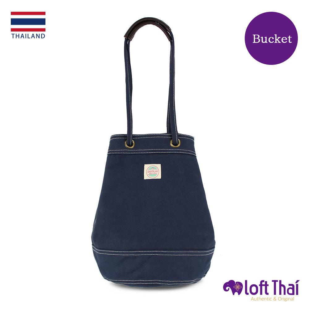 Loft THAI | 泰.兩用帆布水桶包(大) | Navy @ Y!購物