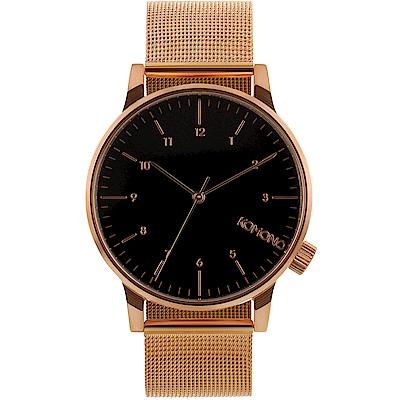 KOMONO Winston Royale 腕錶-玫瑰金x黑/ 41 mm
