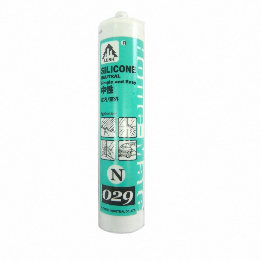 N029 中性矽利康 防水膠/玻璃膠300ml  5支  (四色)
