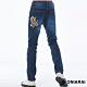 鬼洗 BLUE WAY –  45度火焰爆裂鬼彈性低腰直筒褲 product thumbnail 1