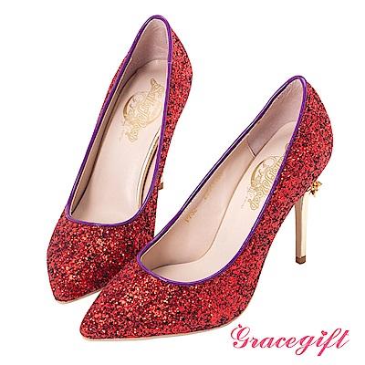 Grace gift-美少女戰士變身器碎石高跟鞋 紅
