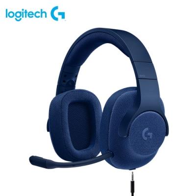 羅技 G433 7.1聲道有線遊戲耳機麥克風-藍