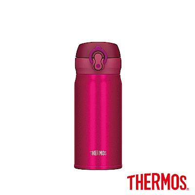 THERMOS膳魔師不鏽鋼真空保溫瓶0.35(JNL-353)-CRB(紅莓紅)