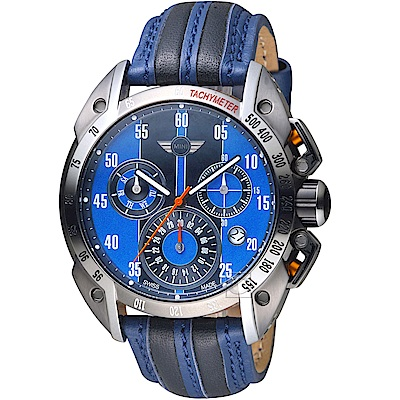 MINI Swiss Watches極速運動計時腕錶(MINI-160113)-藍