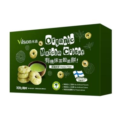 米森Vilson 有機抹茶穀脆餅(60g)