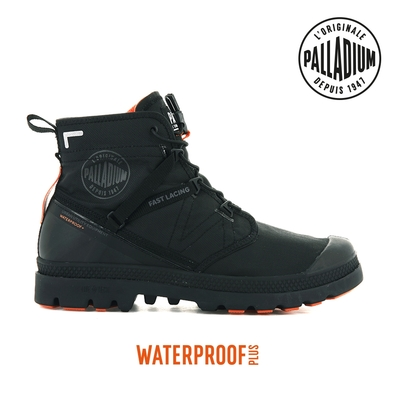 PALLADIUM PAMPA TRAVEL LITE+ WP+快穿輕量防水靴-中性-黑