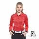 【Lynx Golf】女款吸濕排汗抗UV涼感LXG印花長袖POLO衫-紅色 product thumbnail 2