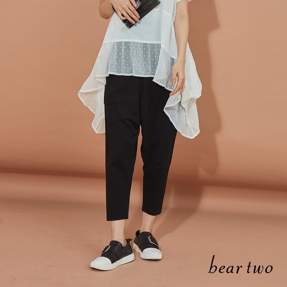 beartwo-簡約時尚哈倫褲-黑