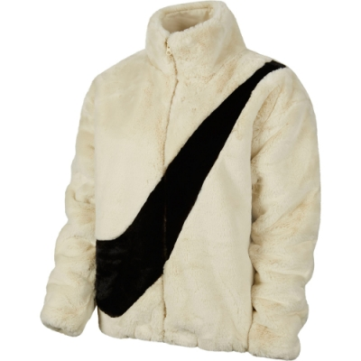 NIKE 外套 立領外套 絨毛 運動 女款 米 CU6559238 AS W NSW JKT FAUX FUR
