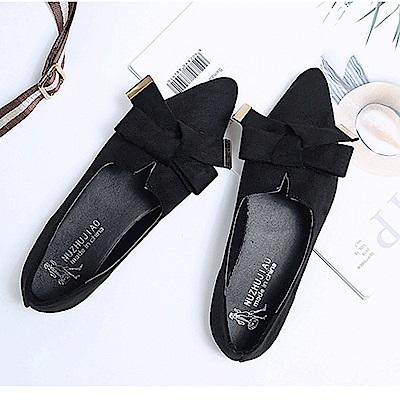 韓國KW美鞋館 搶鮮購璀璨韓風閃亮平底鞋-黑色