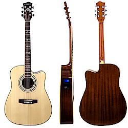 LANDO STAR嚴選雲杉單板電木吉他+內建調音器~外銷限量款