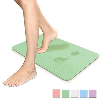 超吸水速乾型珪藻土地墊45cm×35cm_附止滑墊 (綠色)