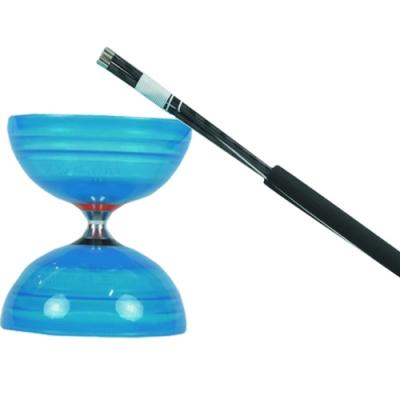 三鈴SUNDIA-台灣製造-炫風長軸三培鈴扯鈴(附35cm大碳棍、扯鈴專用繩)藍色