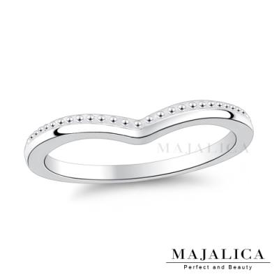 Majalica簡約時尚V字銀戒女戒尾戒925純銀戒指推薦品牌 單個價格(MIT)